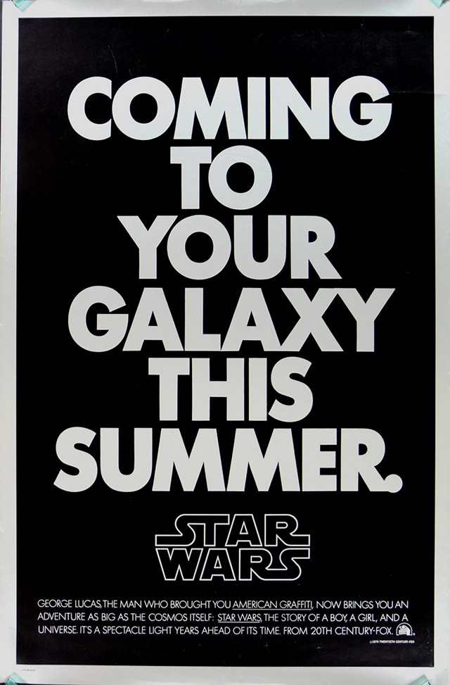 1977 Star Wars Film Poster Ralph
