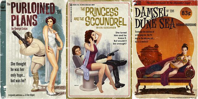 Fantasy Book Cover Posters ~ Original star wars film trilogy reimagined as pulp novel