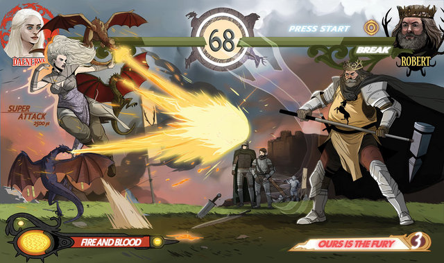 Game of Thrones Excel, 'Game of Thrones' Reimagined as a Fighting Game Similar to 'Mortal Kombat'