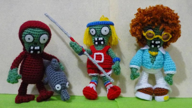Crochet Plants Vs. Zombies