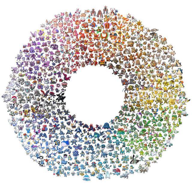 Pokemon Color Wheel