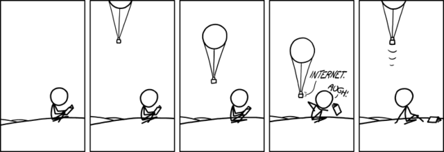 xkcd Balloon Internet