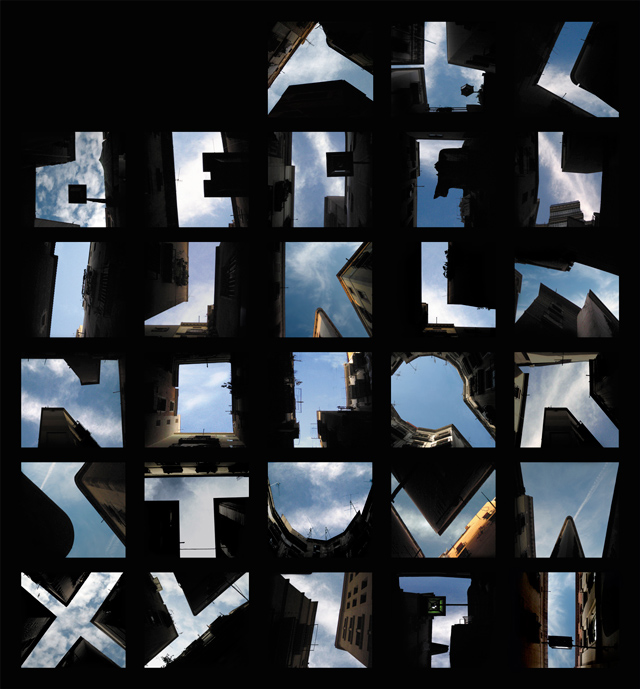 Type the sky by Lisa Rienermann
