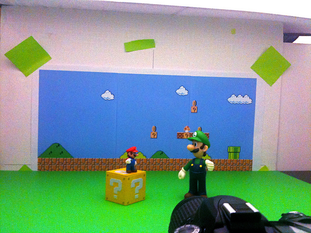 Mario vs. Super Luigi Setup