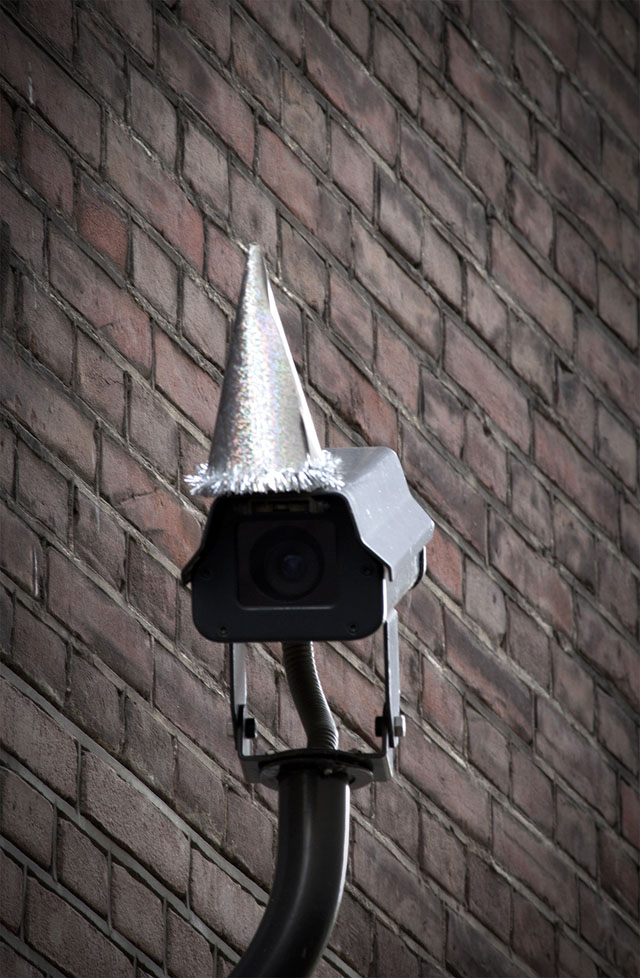 Surveillance Camera Birthday Party for George Orwell