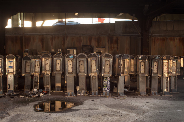 Pay phone graveyard
