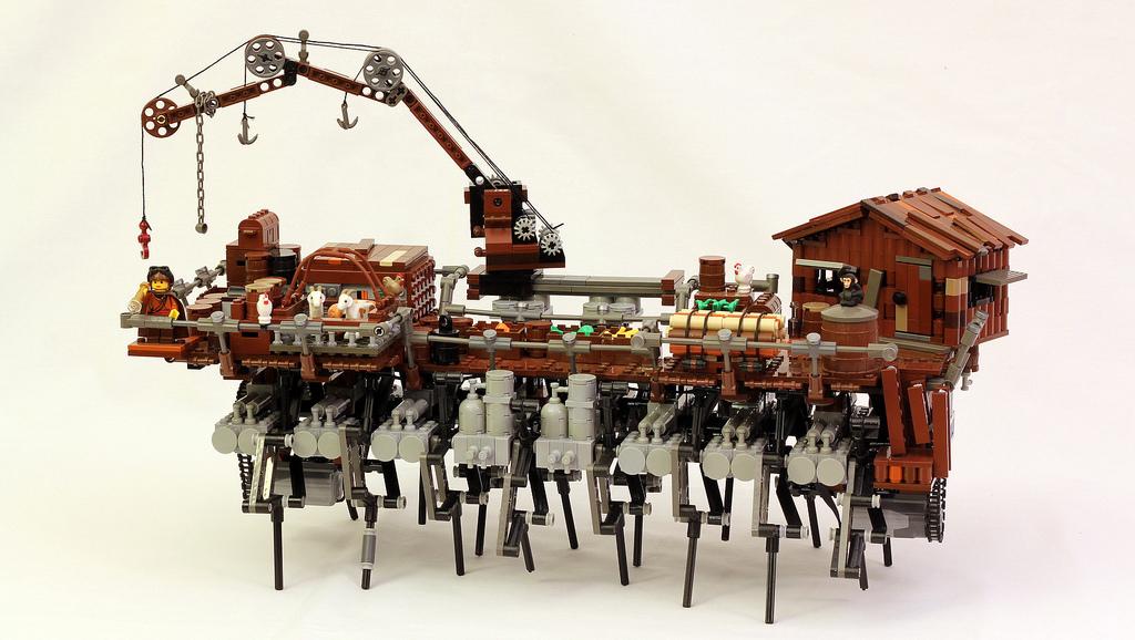 Land Ship Amagosa, A Strandbeest-Inspired LEGO Walking Machine