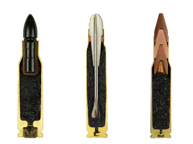 AMMO, Photos Reveal the Design of Ammunition in Cross-Sections