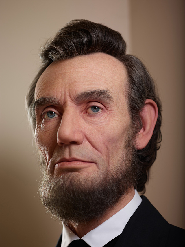 Portrait Of Lincoln A Hyper Realistic Bust Of Abraham