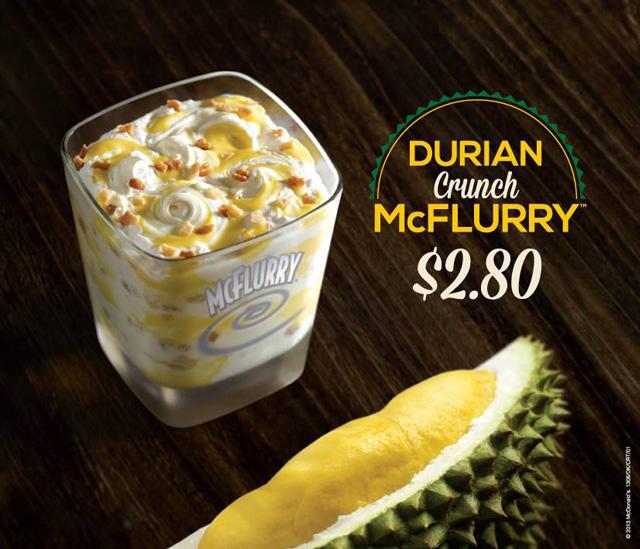 McDonald's Durian Crunch McFlurry