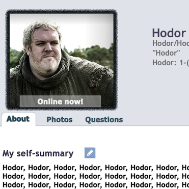 What If 'Game of Thrones' Characters Had Online Dating Profiles