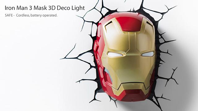 3D Iron Man 3 Mask Nightlight