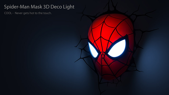 Marvel Superhero 3d Nightlights That Appear To Smash Right