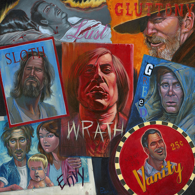 Over The Line, An Art Show Tribute to the Coen Brothers at Ltd. Art Gallery in Seattle