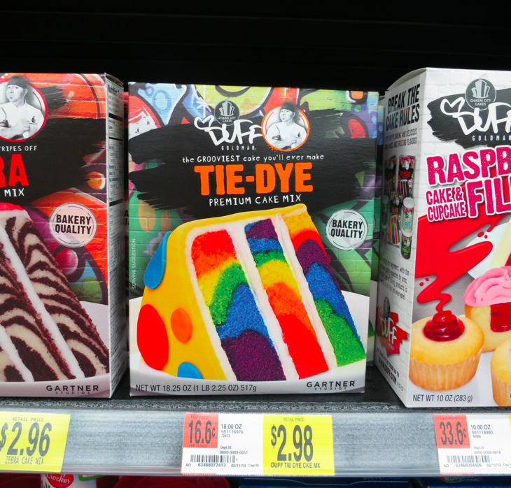 Tie Dye Zebra Amp Red Velvet Cake Mixes By Duff Goldman