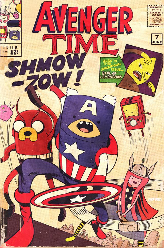 It\'s Adventure Time, Mashup Illustrations of Comic Book & \'Adventure ...