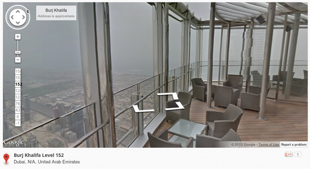 Google Street View of the Burj Khalifa