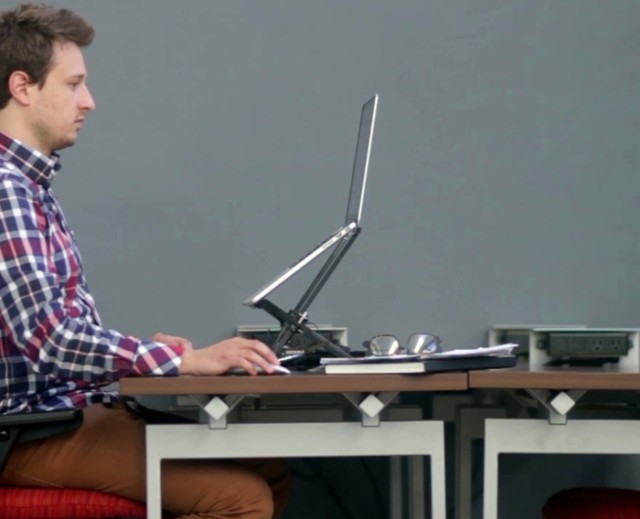 The Roost ergonomic laptop stand by James Olander