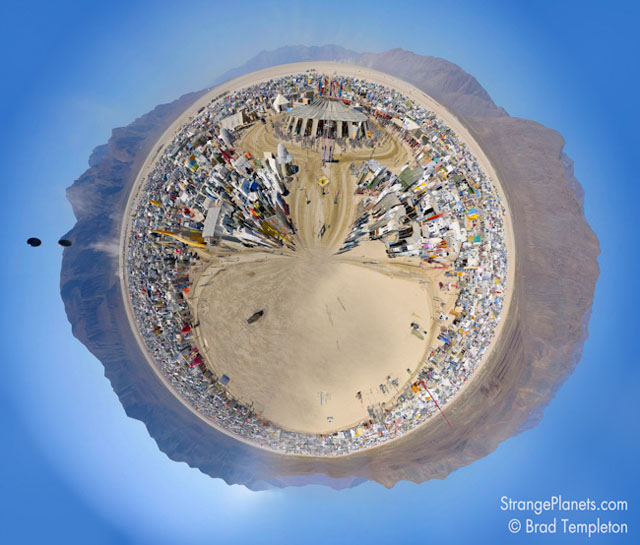 Strange Planets - Burning Man by Julian Cash