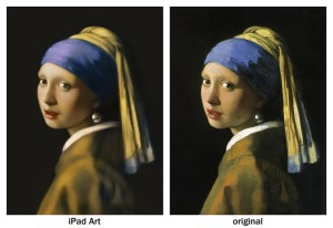 Girl with a Pear Earring iPad finger painting by Seikou Yamaoka