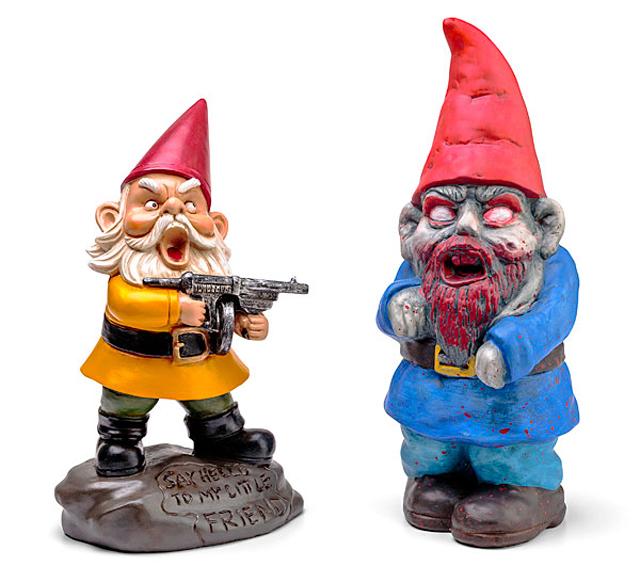 Gnome In Garden: Zombie Apocalypse Garden Gnomes