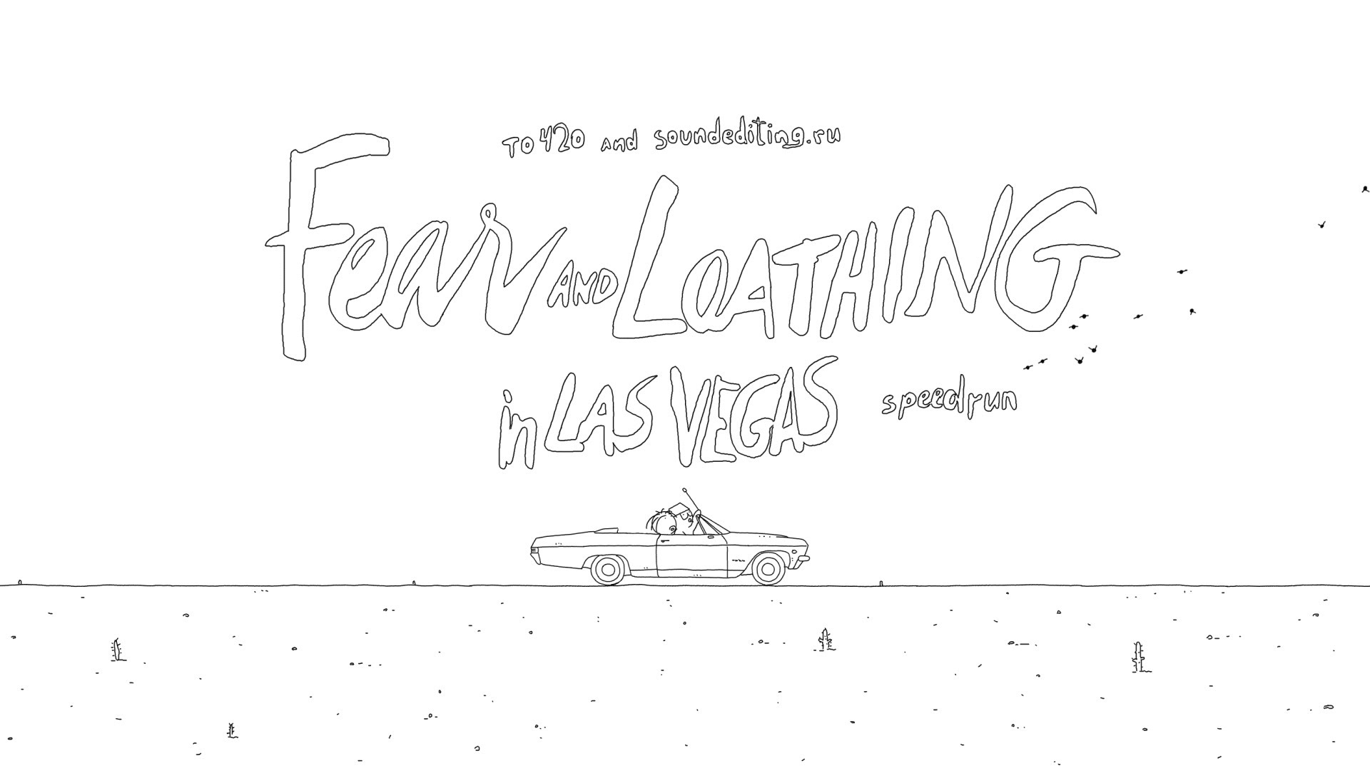 Fear and Loathing in Las Vegas Condensed into 1 Minute Animation
