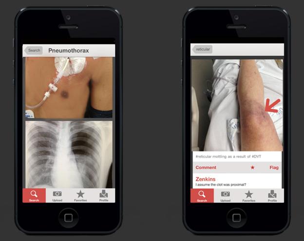 Figure 1 Medical photo sharing app