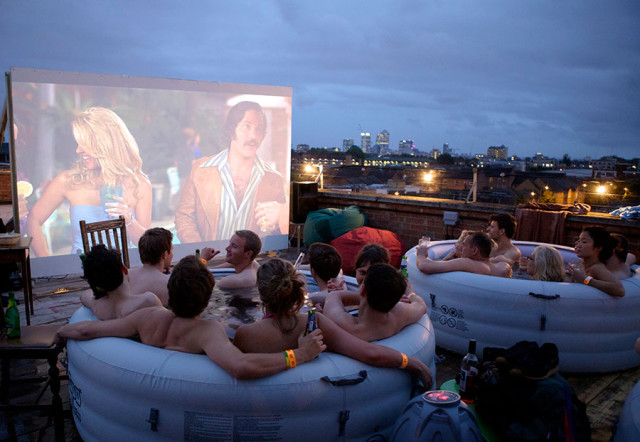 Hot Tub Cinema  A Pop-Up Movie Theater with Hot Tubs