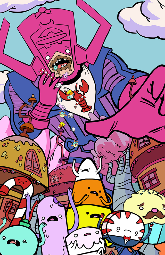 Galactus tries to eat the Candy Kingdom by Brendan Tobin