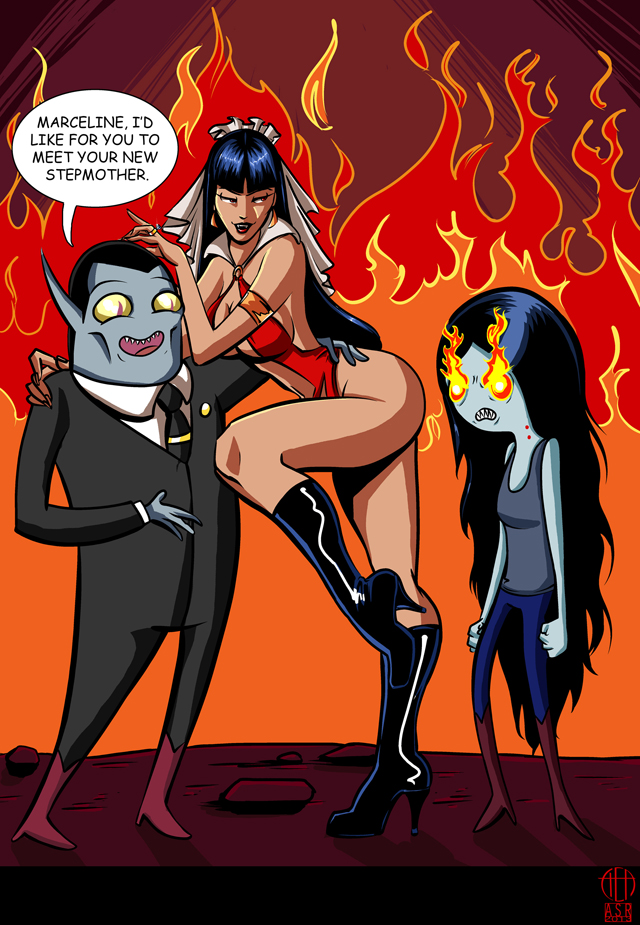 Marceline and Vampirella by Cynthia and Amanda Rodgers