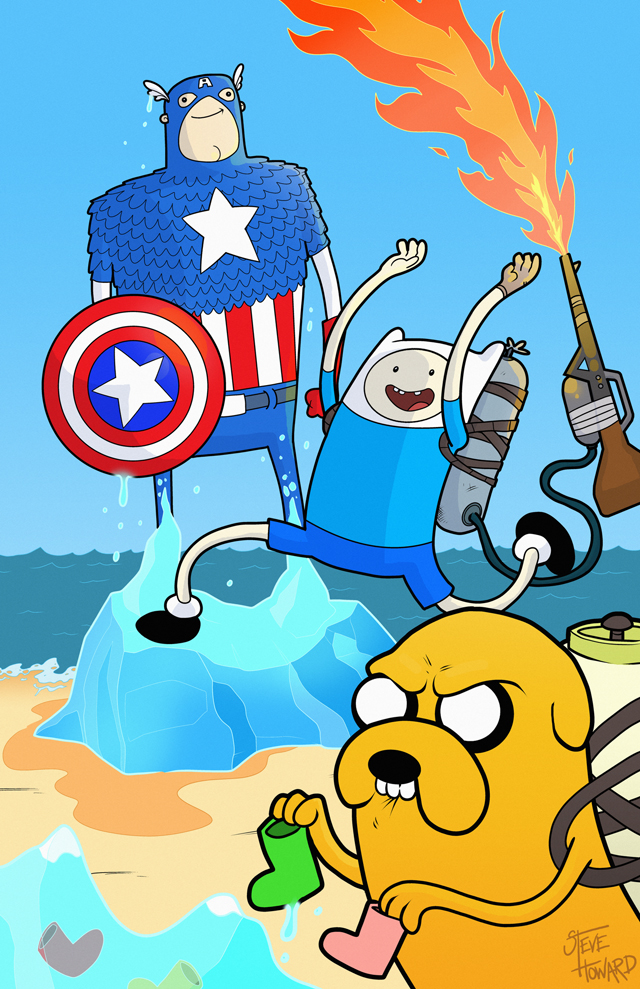 What if Captain America had been revived in Ooo? by Steve Howard