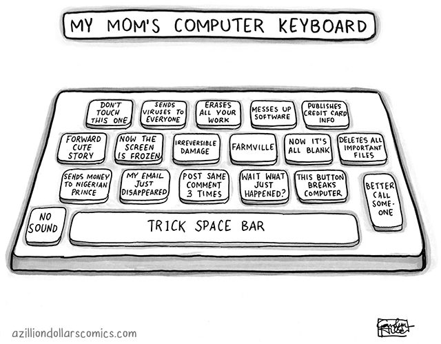 Mom Computer Keyboard