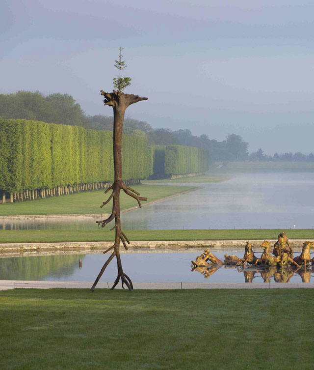 Tree sculptures by Giuseppe Penone at Versailles