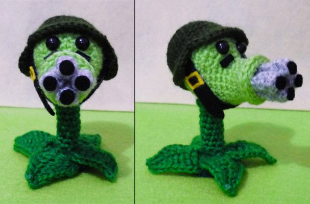 Crochet Plants Vs Zombies Patterns : Detailed Crocheted Versions of ?Plants Vs. Zombies? Characters