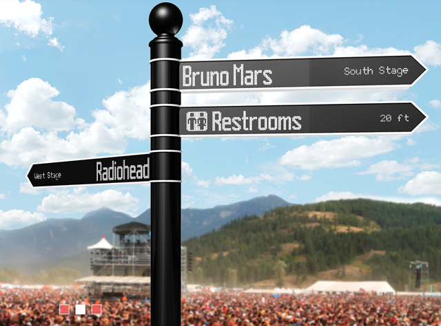 Points directional sign