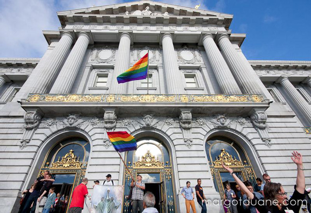 Rainbow Flags on SF City Hall
