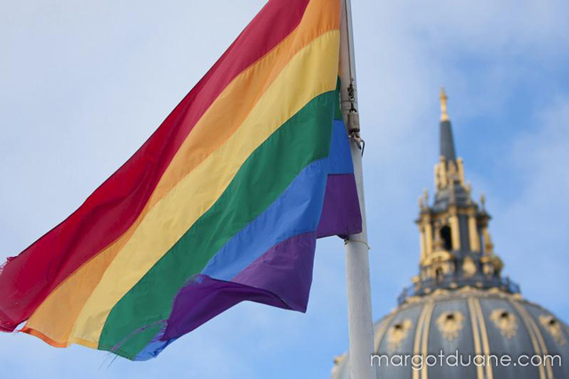 Rainbow Flag over SF City Hall