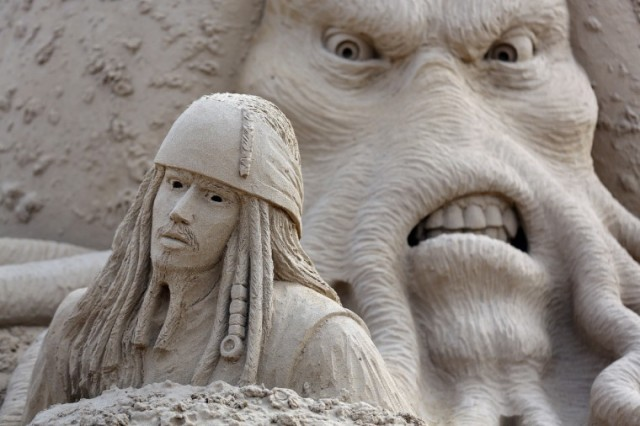 Movie sand sculptures at Weston Sand Sculpture Festival