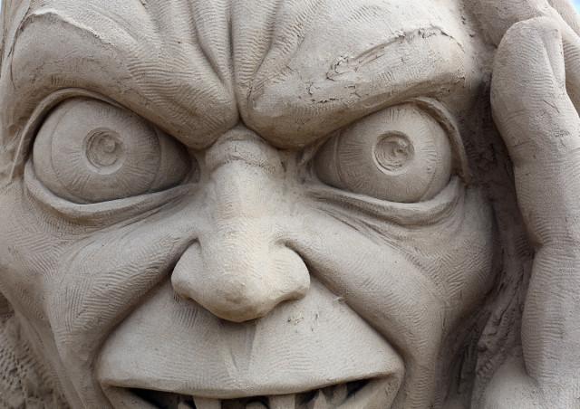 Movie sand sculptures at Weston Sand Sculpture Festival