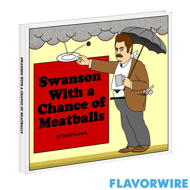 Ron Swanson in Cloudy With a Chance of Meatballs