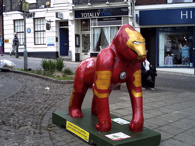 Iron Man Gorilla Sculpture by Martin Wall