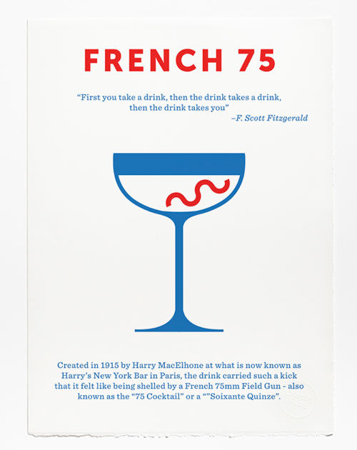 Classic cocktail posters by Crispin Finn