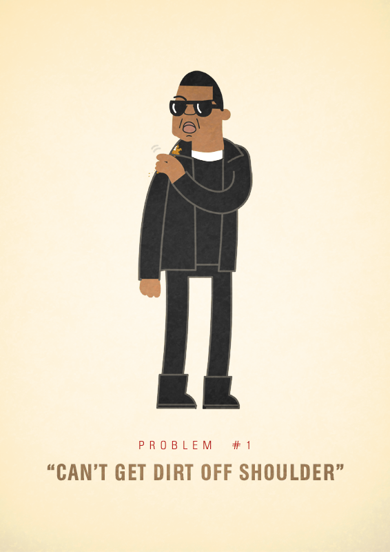 99 Problems, Humorous Illustrations of Jay-Z's Potential Problems
