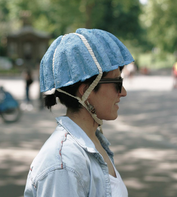 Paper pulp bicycle helmet