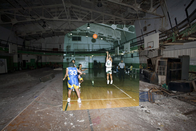 Then and Now Photos of Detroit's Abandoned Buildings Show Their Rapid Disintegration