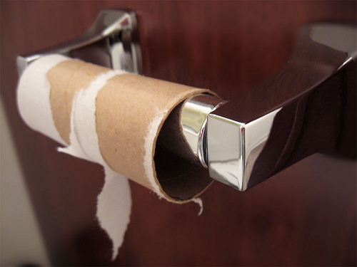 17 Replace toilet paper after you finish it