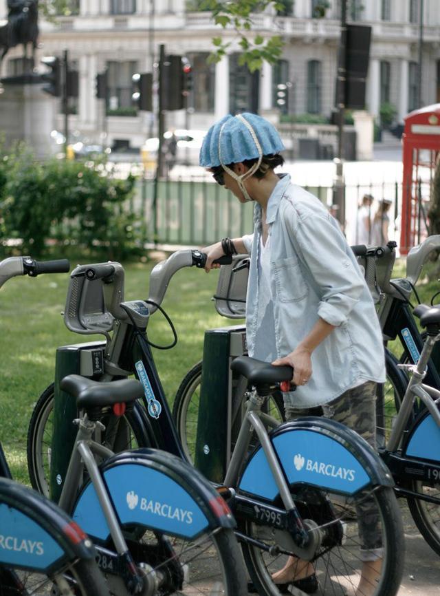 Paper pulp bicycle helmet