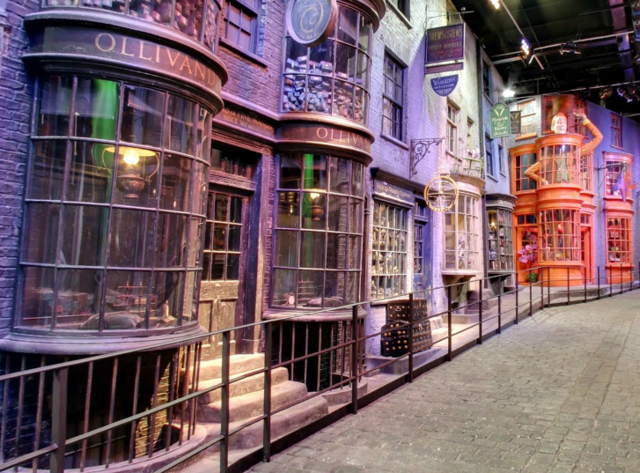 Google Maps Street View of the Diagon Alley Set From 'Harry Potter'