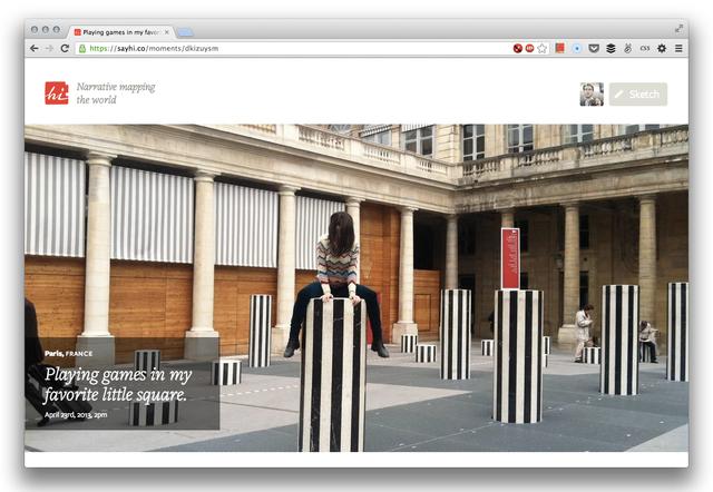 Hi, A Storytelling Platform That Creates a Narrative Map Using User Photos & Location Descriptions