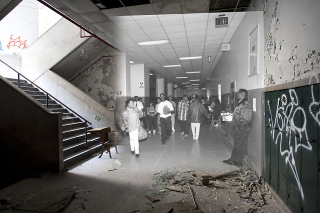 Then and now photos of Detroit buildings